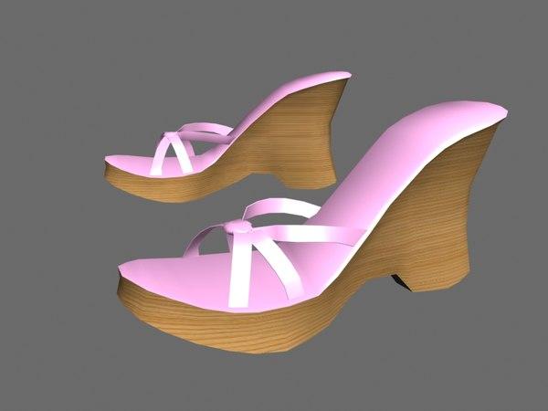 3d model of platform shoes