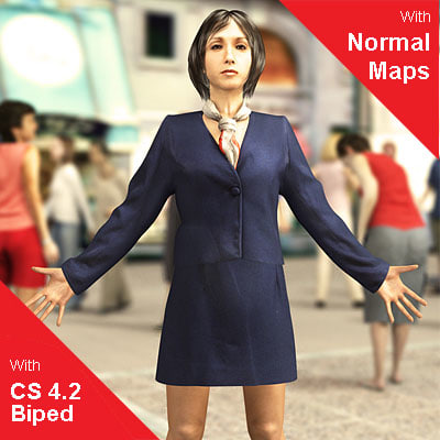 character normal mapping 3d model