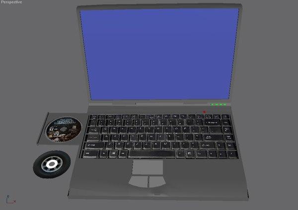 free laptop 3d model