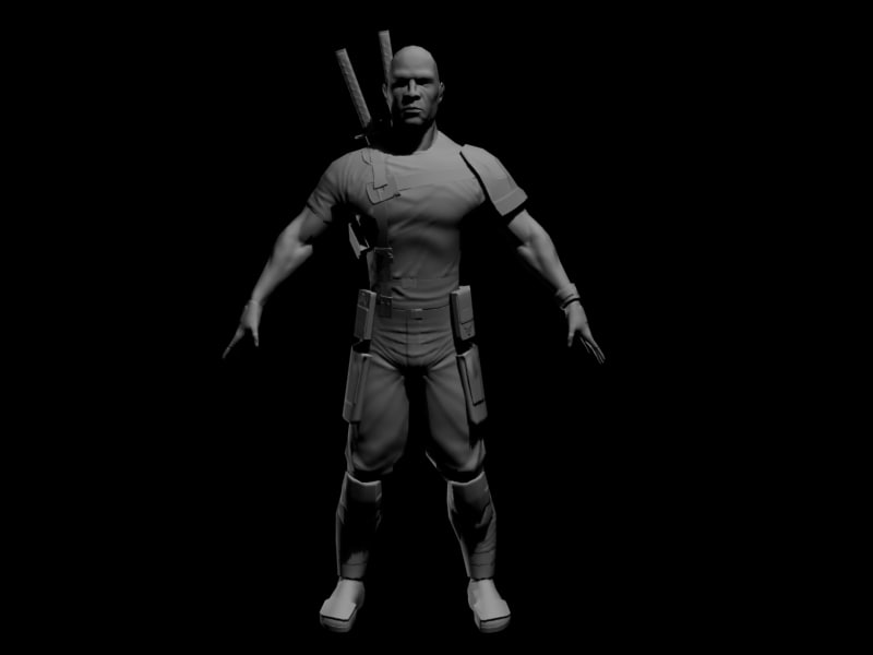 normal maps character 3d max