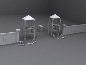 checkpoint outpost 3d max