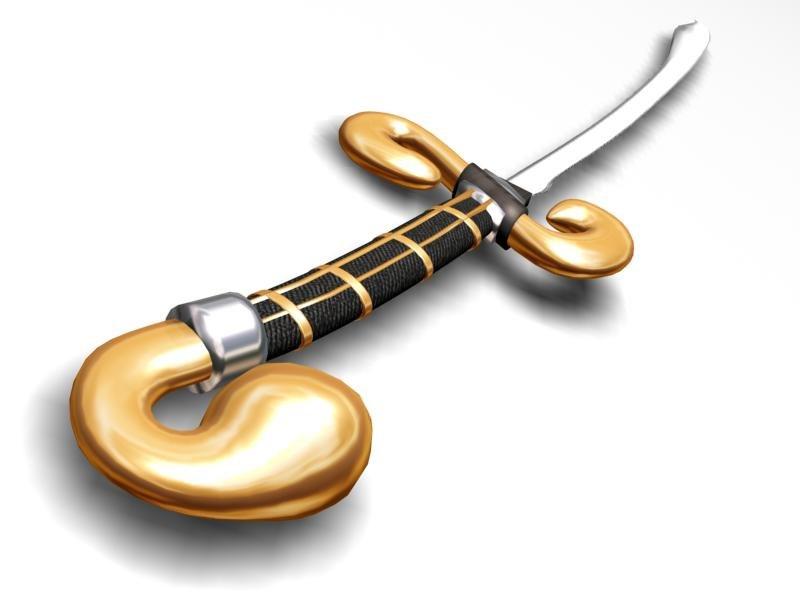 3d sword weapons model