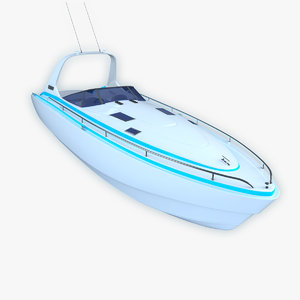 3d model hi motor boat -