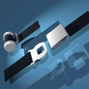 airplane belt elements 3d model