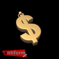 dollar sign 3d model