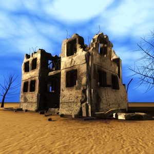 max bombed desolated building