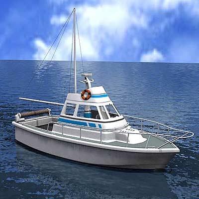 motor boat 3d model