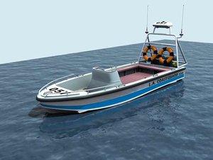 coastguard motorboat 3d max