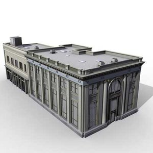 3d max bank building