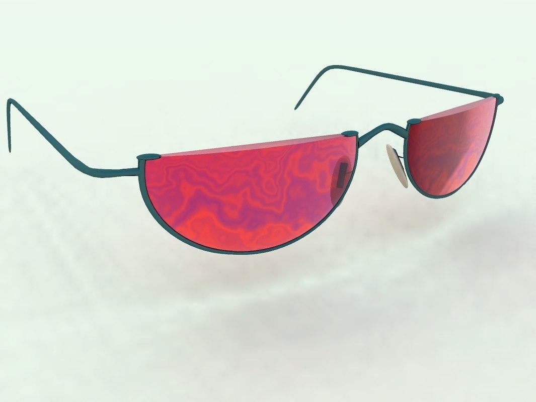 sunglasses eyeglasses bryce 3d obj