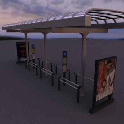 3d japanese bus stop