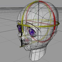 manga head character 3d model