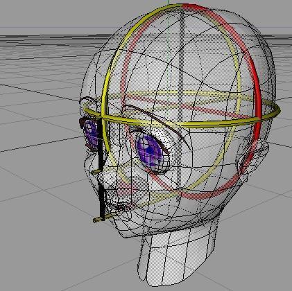 manga head character 3d model