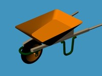 construction wheelbarrow 3d 3ds