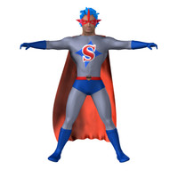 3d super hero model
