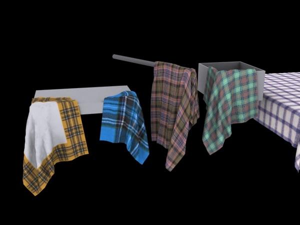 cloth tablecloth 3d 3ds