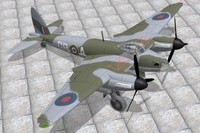 haviland mosquito bomber 3d model