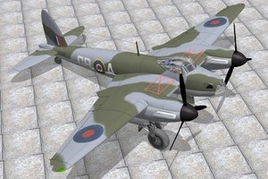 haviland mosquito bomber 3d model