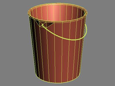 basket bucket 3d 3ds