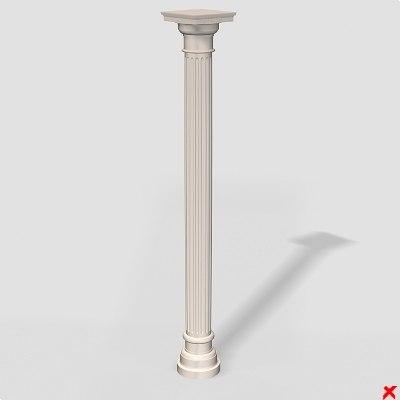 free column 3d model