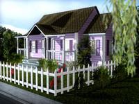 3d ranch house model