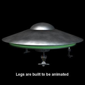 3d flying saucer