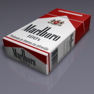cigarette box 3d model