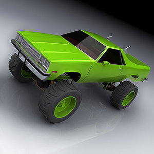 el camino monster truck 3d model
