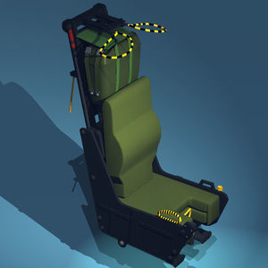 martin baker ejection seat 3d model