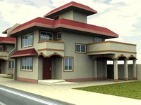 3d 2 storey residential model