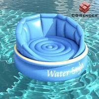 water sofa 3d model
