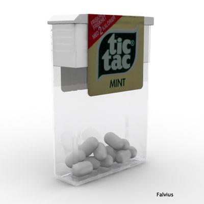 tic tac candy 3d model