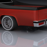 custom elcamino 3d max