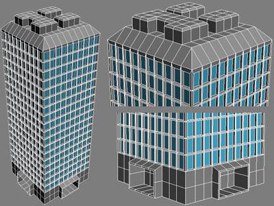skyscraper building tower 3d max