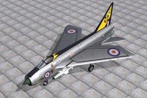 english electric lightning 3d model