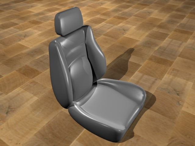 standard car seat 3d model
