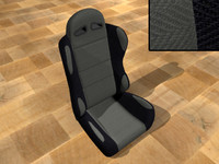 bucket race car seat 3d model
