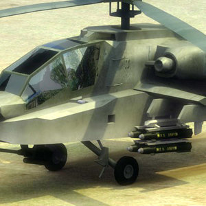 3d ah64d apache longbow attack helicopter