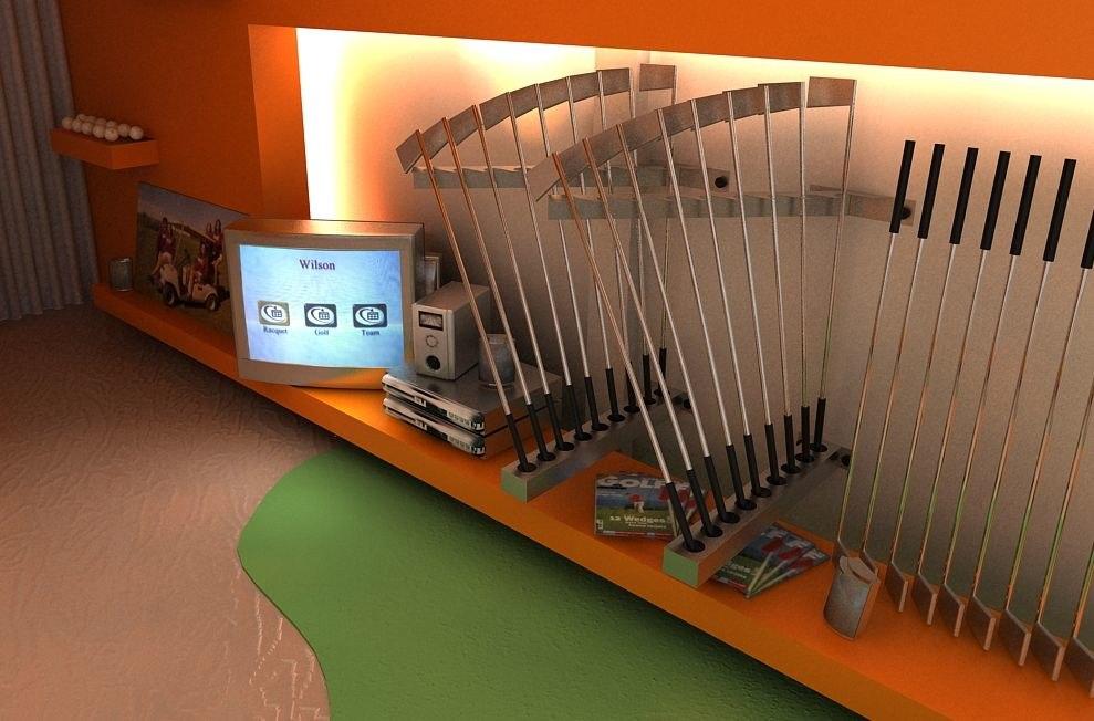 3d model house golf