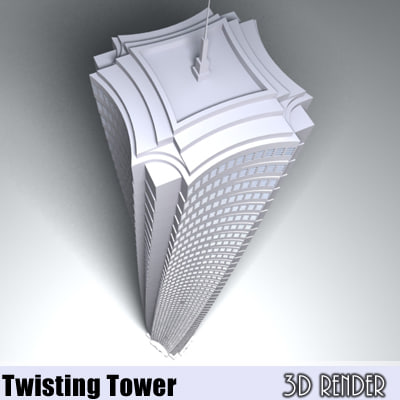 3d definition twisting tower model