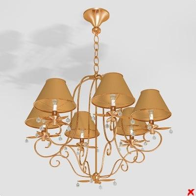 3d model of chandelier lamp
