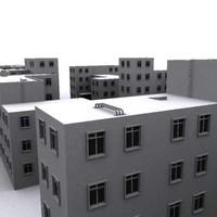 building apartment townhouse 3d 3ds