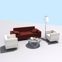 p3d furniture set
