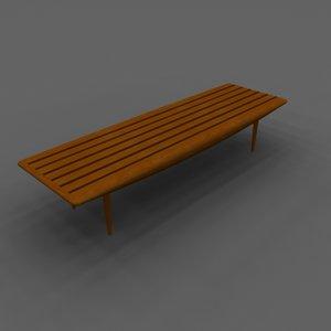 slat coffee table 3d model