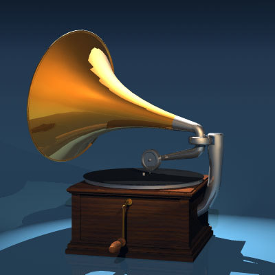 old phonograph 3d dxf