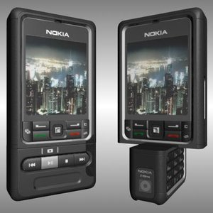 nokia 3250 cell phone 3d model