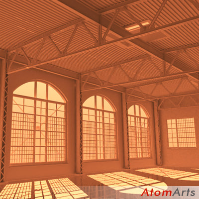 3d warehouse industrial interior