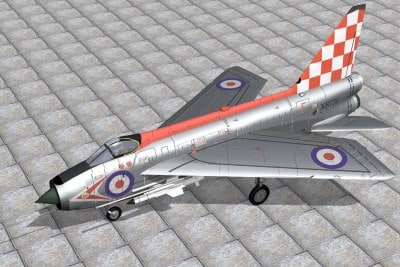 3d model english electric lightning
