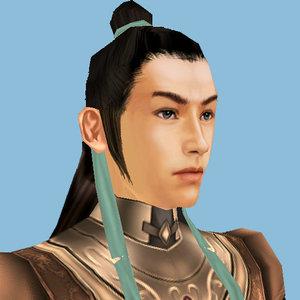 warrior man male 3d model