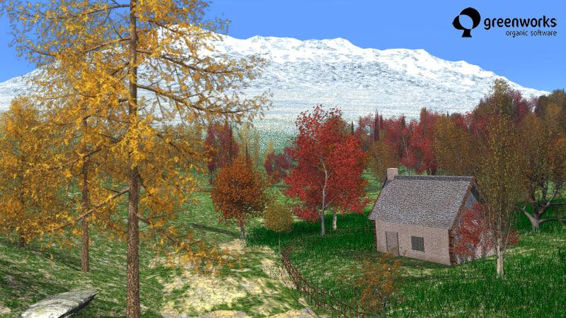 autumn trees xfrogplants 3d model